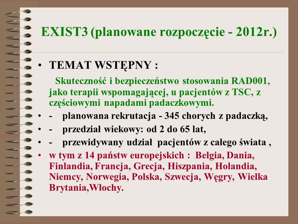 EXIST3 (planowane rozpoczęcie - 2012r.)