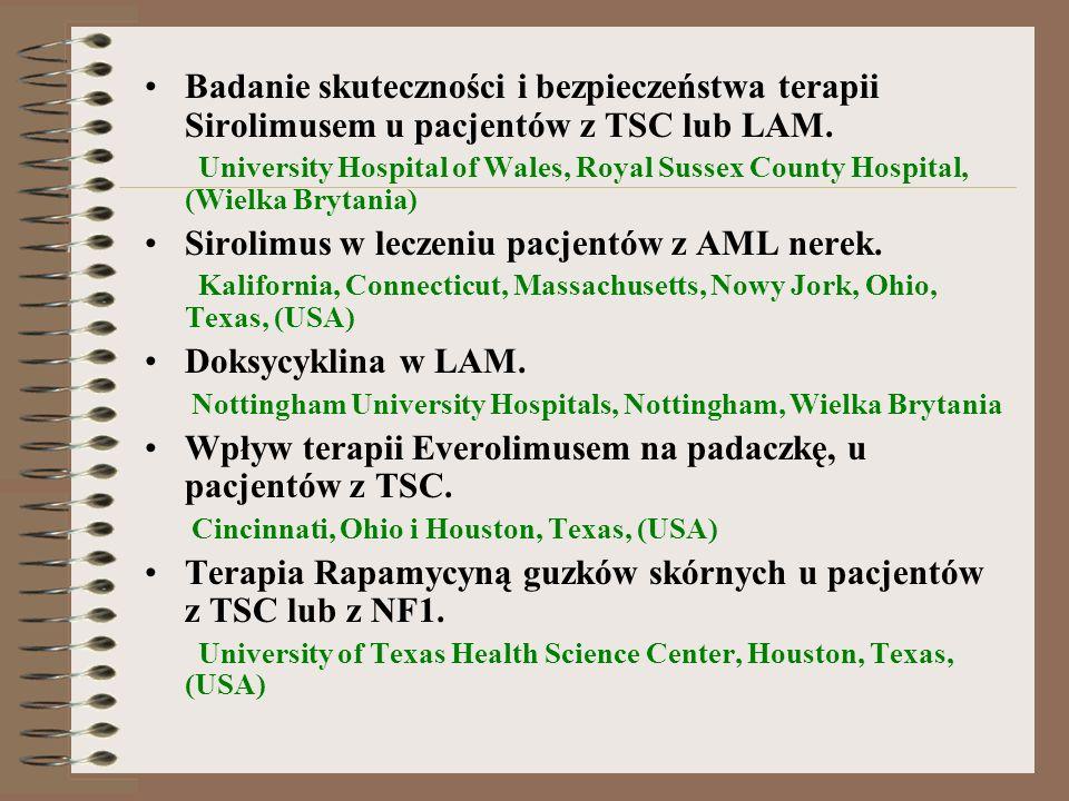 Sirolimus w leczeniu pacjentów z AML nerek.