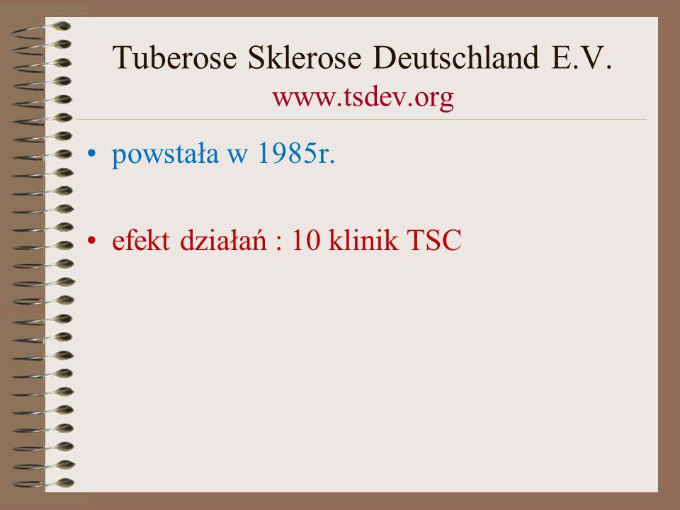 Tuberose Sklerose Deutschland E.V. www.tsdev.org
