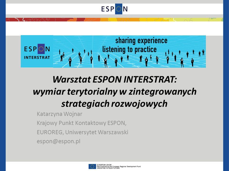 Warsztat ESPON INTERSTRAT: wymiar terytorialny w zintegrowanych strategiach rozwojowych