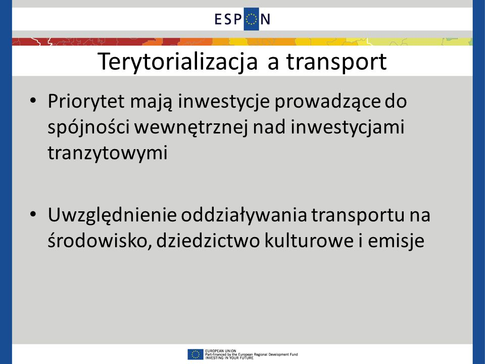 Terytorializacja a transport