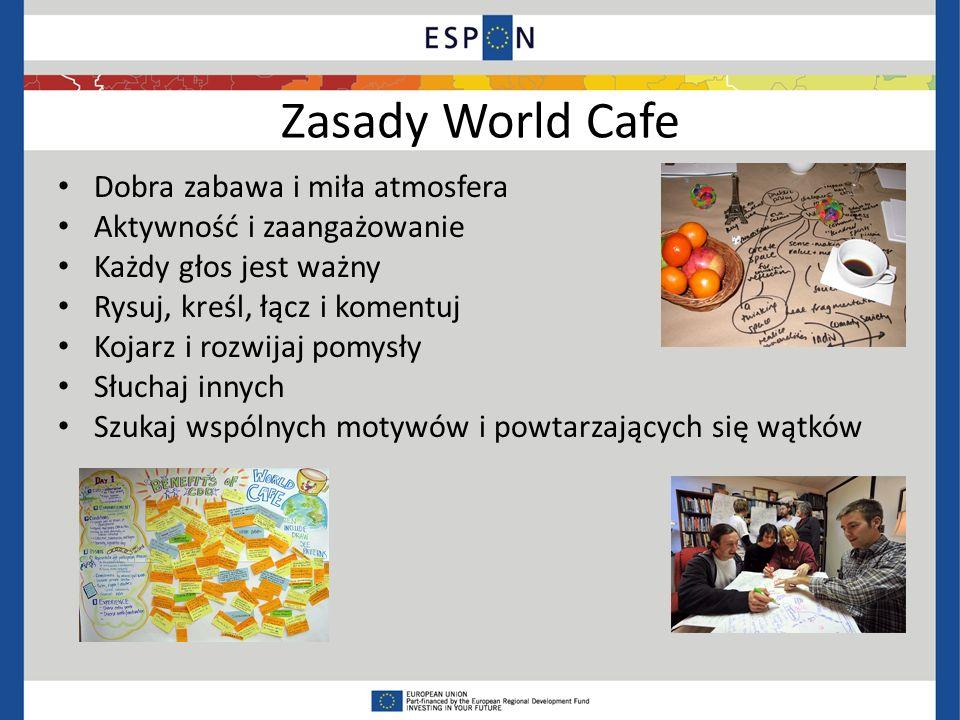 Zasady World Cafe Dobra zabawa i miła atmosfera