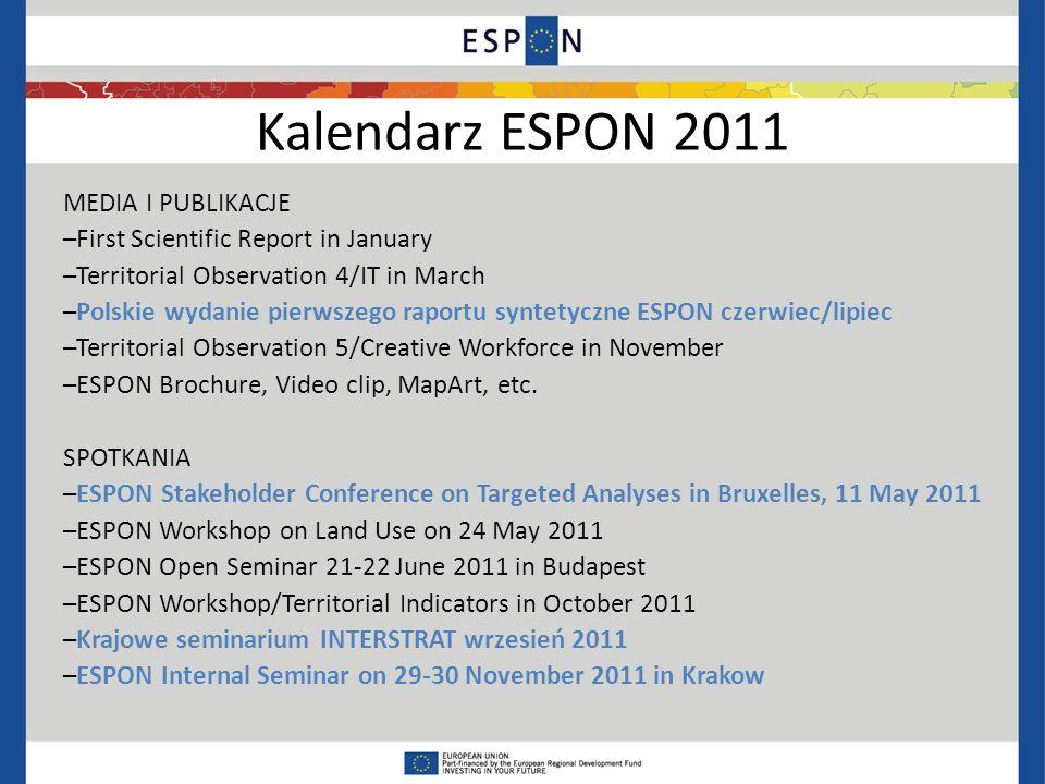 Kalendarz ESPON 2011