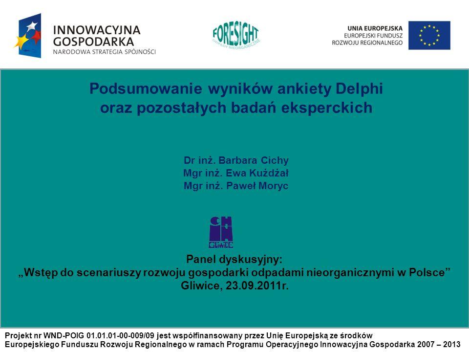 Podsumowanie wyników ankiety Delphi oraz pozostałych badań eksperckich