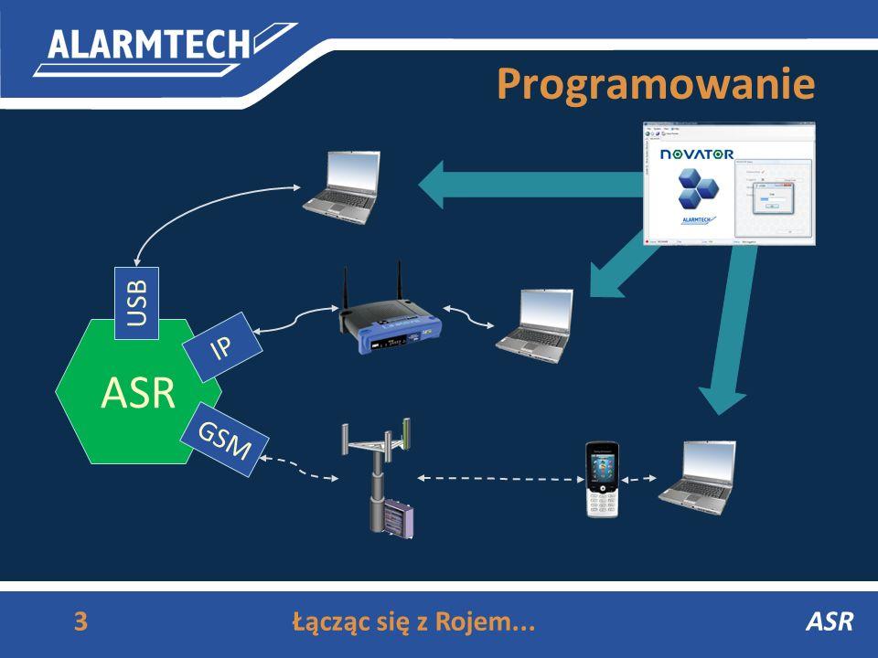 Programowanie ASR USB IP GSM Łącząc się z Rojem... ASR