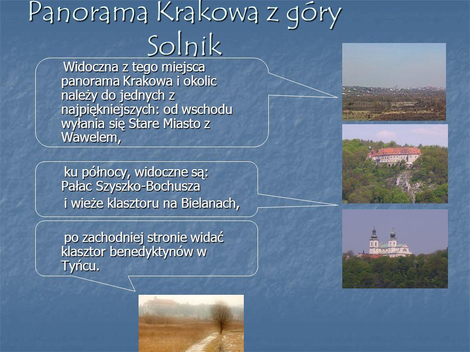 Panorama Krakowa z góry Solnik