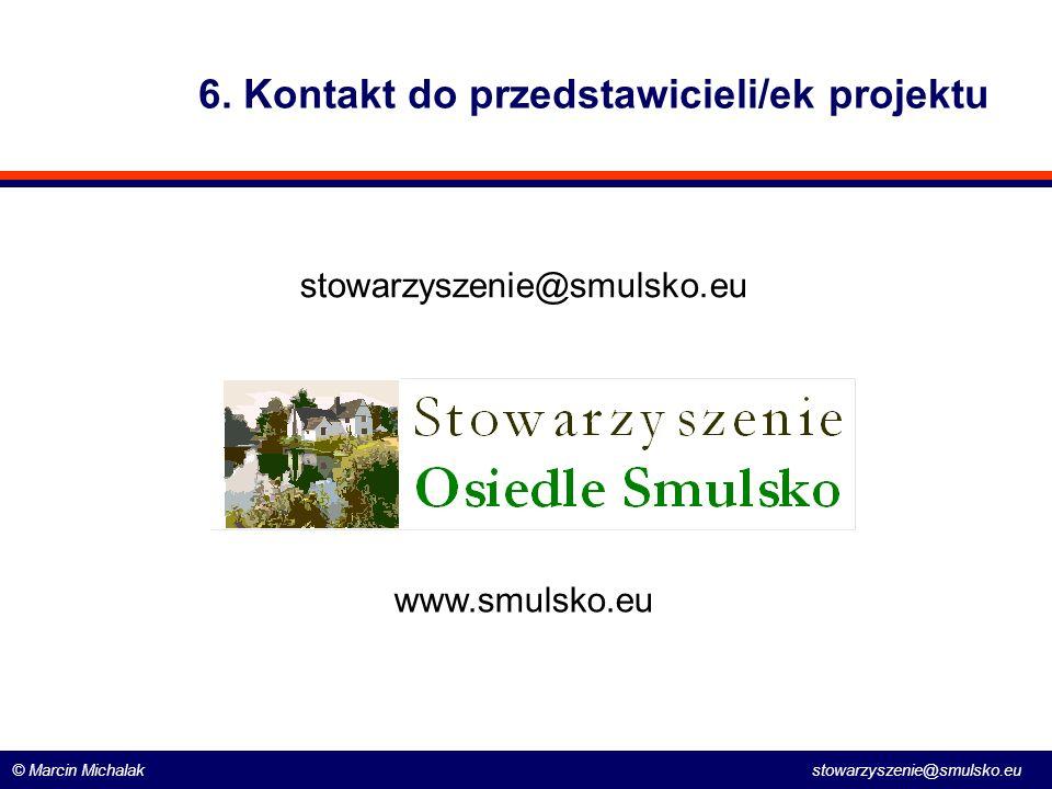 6. Kontakt do przedstawicieli/ek projektu