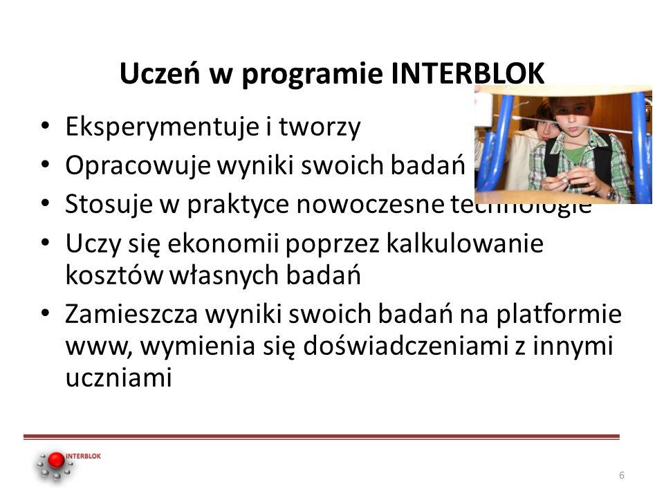 Uczeń w programie INTERBLOK