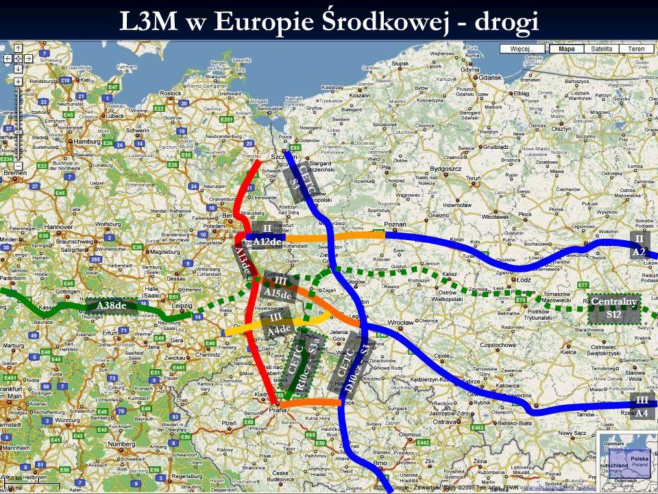 L3M w Europie Środkowej - drogi