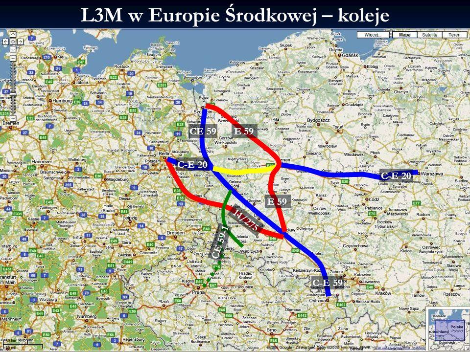 L3M w Europie Środkowej – koleje