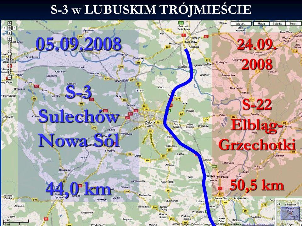 S-3 w LUBUSKIM TRÓJMIEŚCIE 24.09. 2008 S-22 Elbląg- Grzechotki 50,5 km