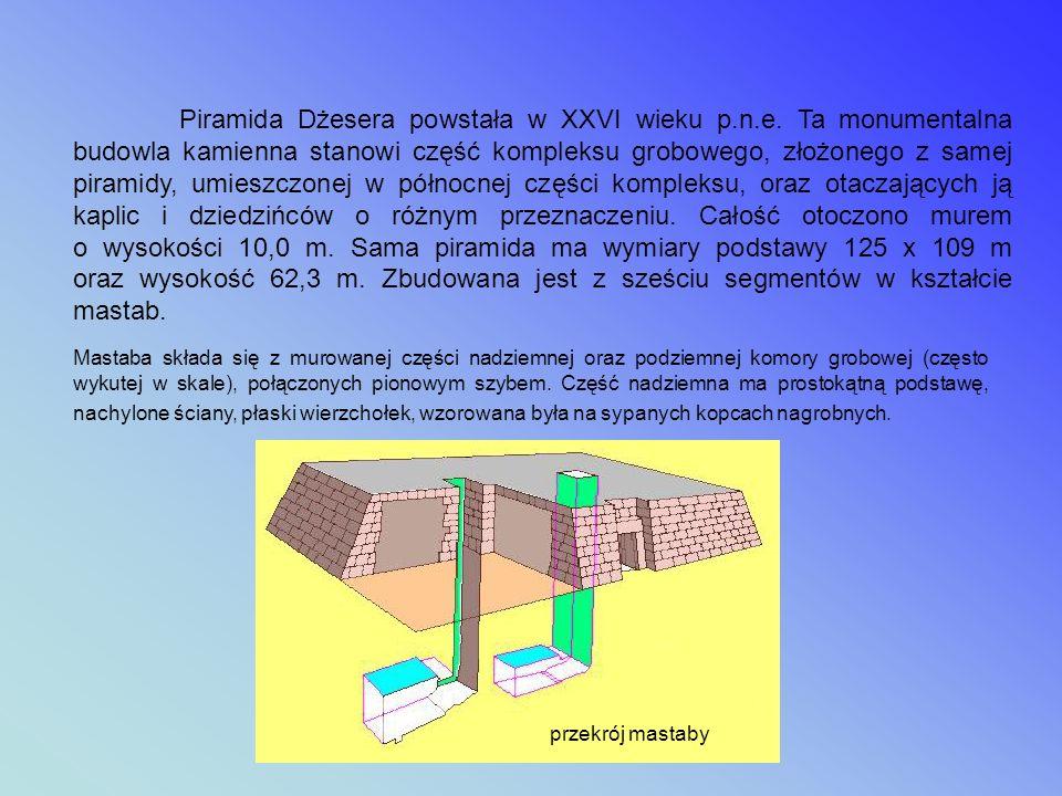 Piramida Dżesera powstała w XXVI wieku p. n. e