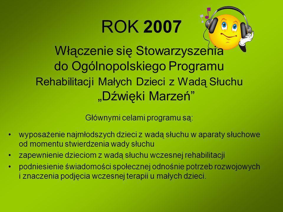 ROK 2007 Włączenie się Stowarzyszenia