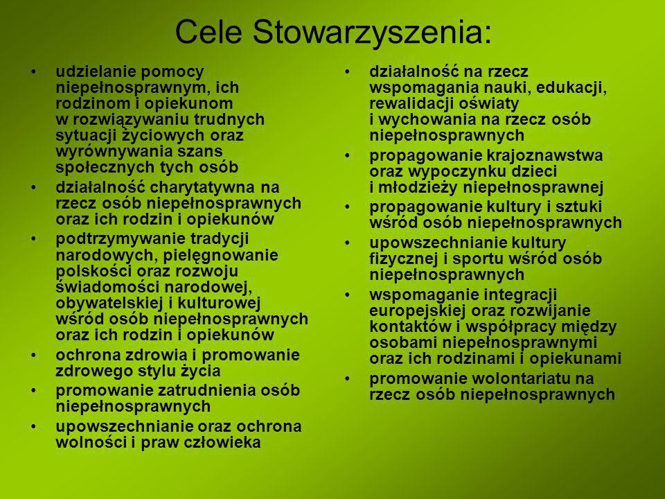 Cele Stowarzyszenia: