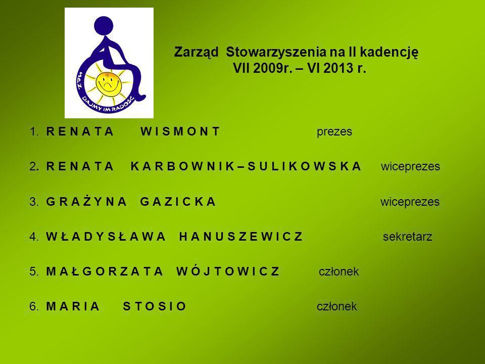 Zarząd Stowarzyszenia na II kadencję VII 2009r. – VI 2013 r.