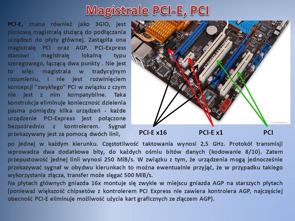 Magistrale PCI-E, PCI PCI-E x16 PCI-E x1 PCI
