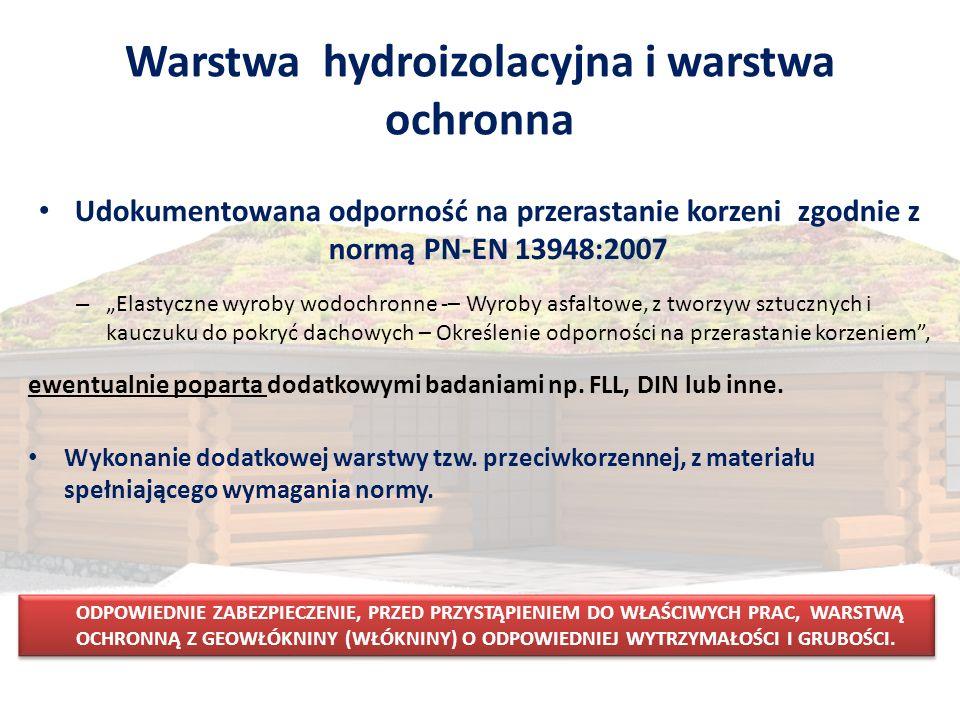 Warstwa hydroizolacyjna i warstwa ochronna