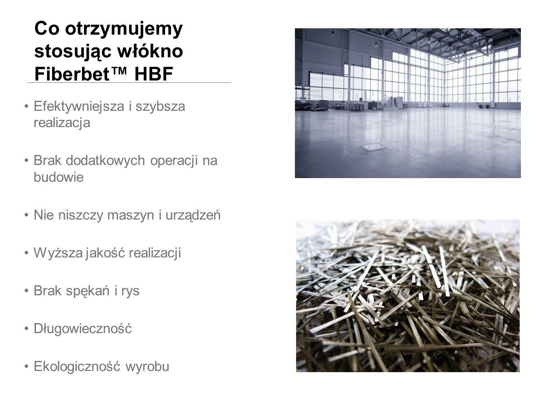 Co otrzymujemy stosując włókno Fiberbet™ HBF
