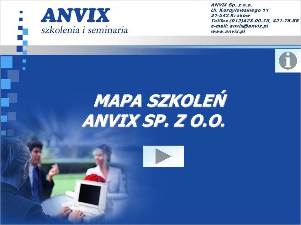 MAPA SZKOLEŃ ANVIX SP. Z O.O.