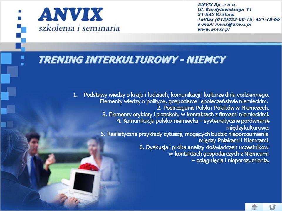 TRENING INTERKULTUROWY - NIEMCY