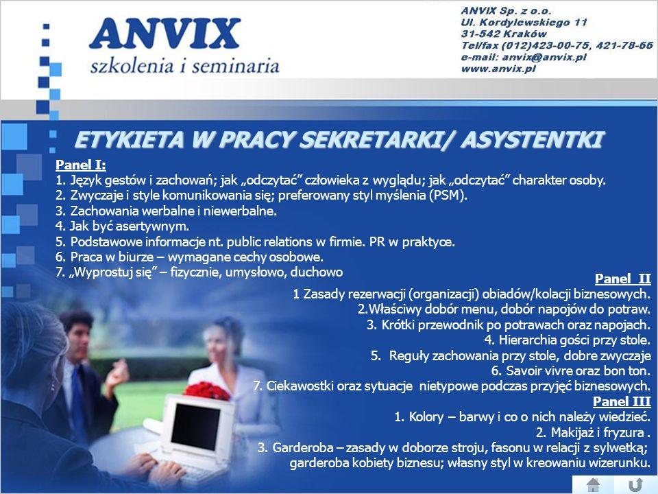 ETYKIETA W PRACY SEKRETARKI/ ASYSTENTKI