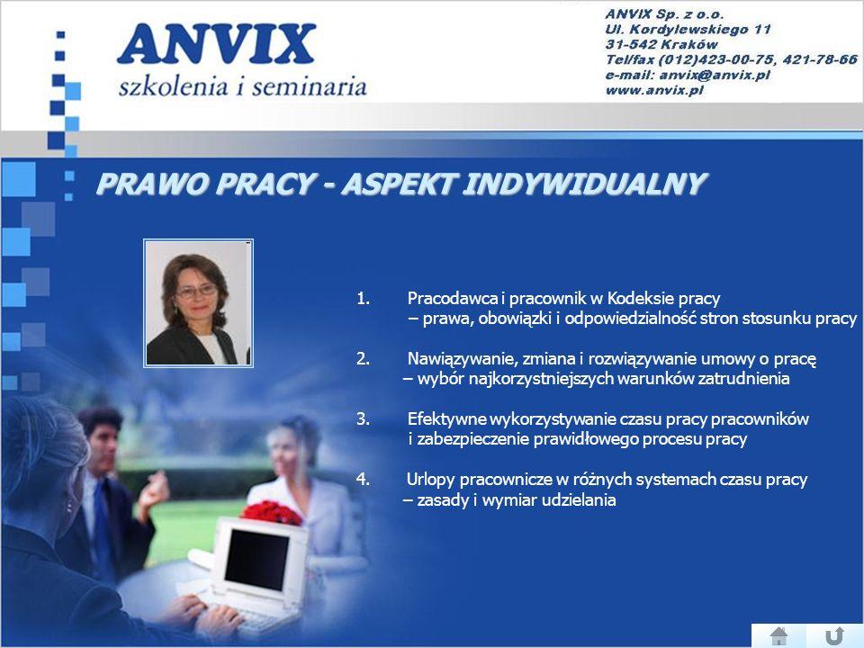 PRAWO PRACY - ASPEKT INDYWIDUALNY