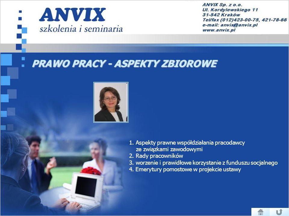 PRAWO PRACY - ASPEKTY ZBIOROWE