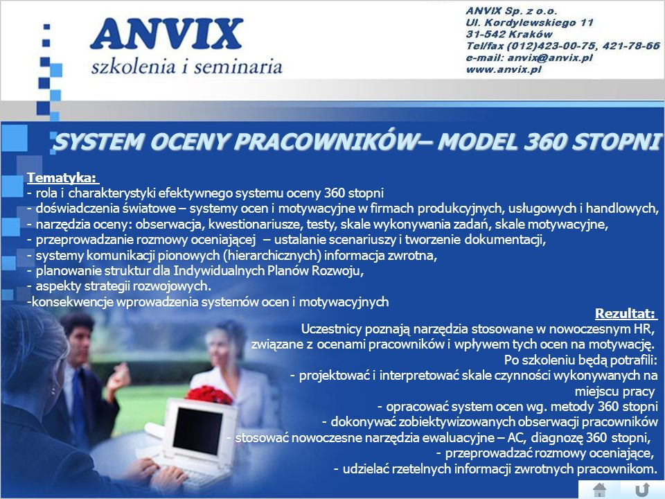 SYSTEM OCENY PRACOWNIKÓW– MODEL 360 STOPNI