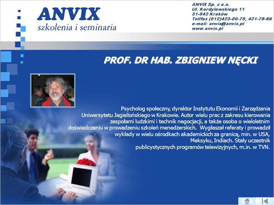 PROF. DR HAB. ZBIGNIEW NĘCKI
