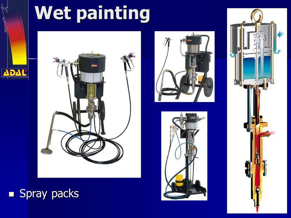 Wet painting Spray packs