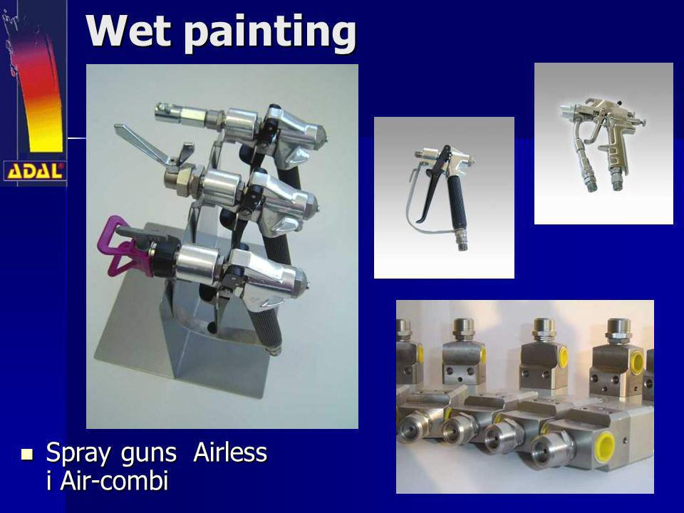 Wet painting Spray guns Airless i Air-combi