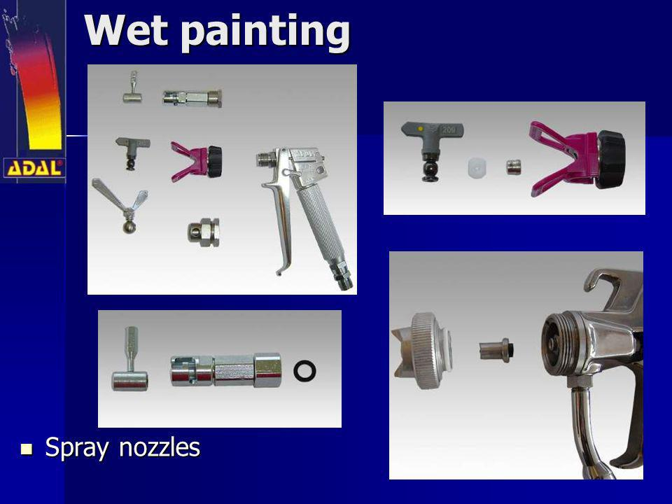 Wet painting Spray nozzles