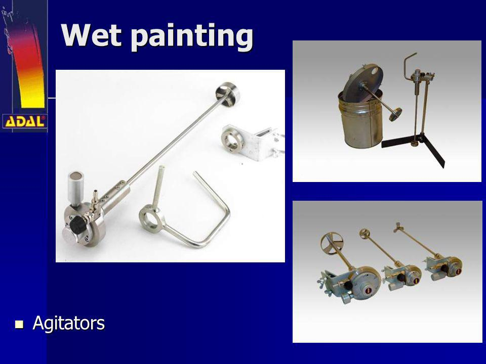 Wet painting Agitators