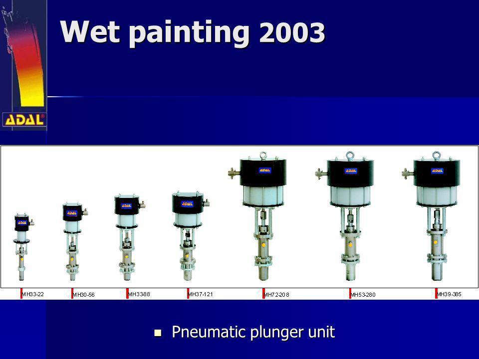 Wet painting 2003 Pneumatic plunger unit