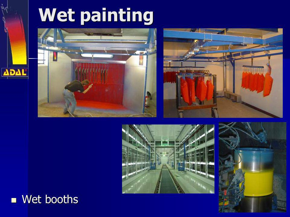 Wet painting Wet booths