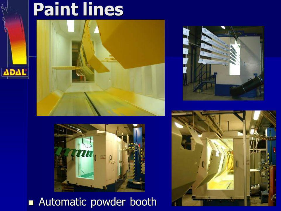 Paint lines Automatic powder booth