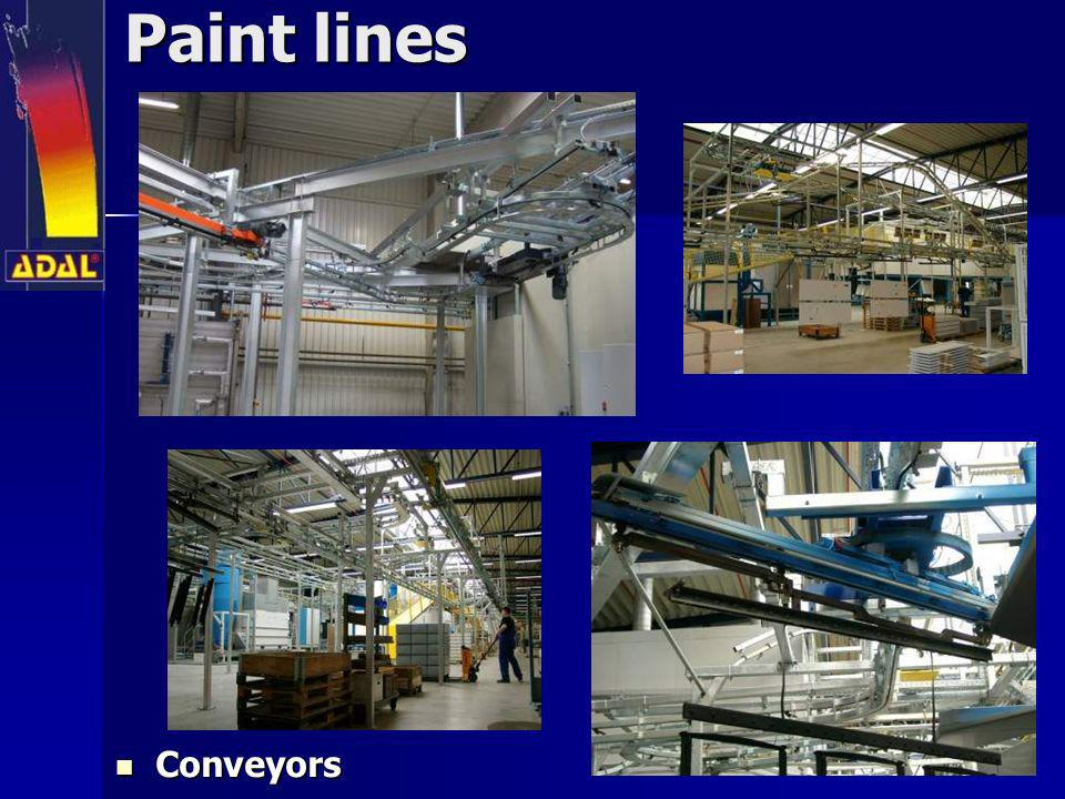 Paint lines Conveyors
