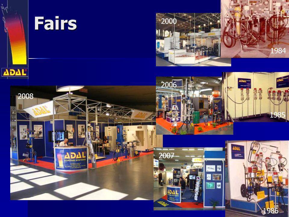 Fairs 2000 1984 2006 2008 1985 2007 1986