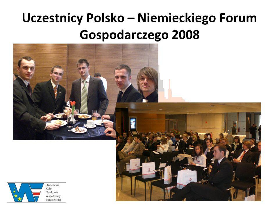 Uczestnicy Polsko – Niemieckiego Forum Gospodarczego 2008