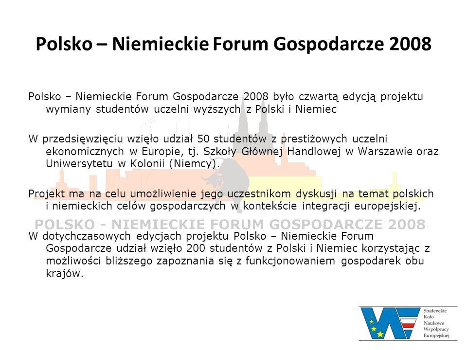 Polsko – Niemieckie Forum Gospodarcze 2008