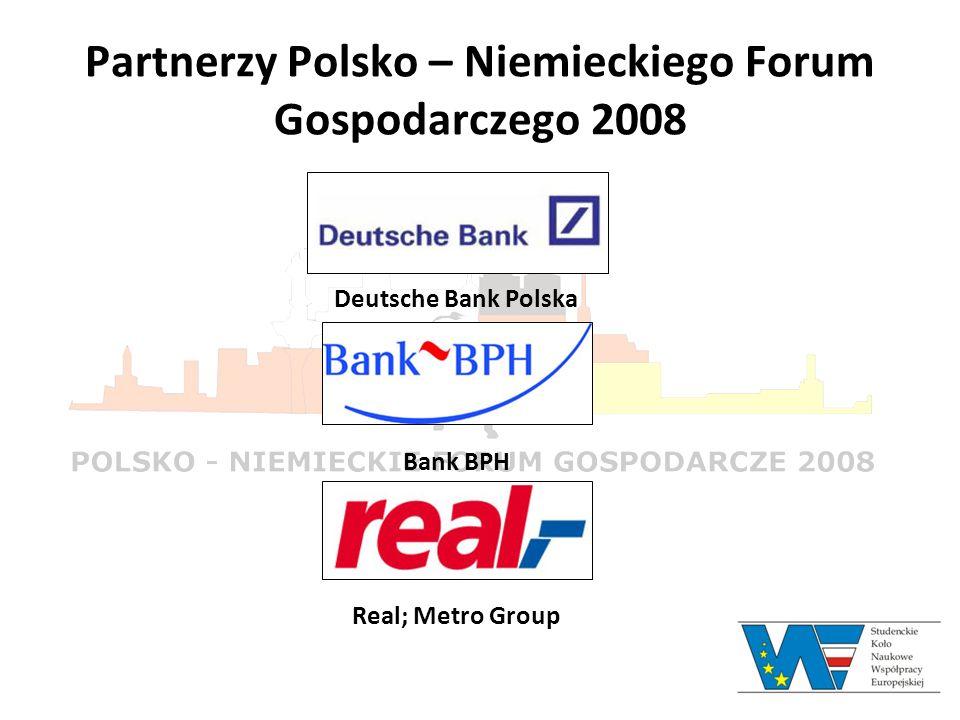 Partnerzy Polsko – Niemieckiego Forum Gospodarczego 2008