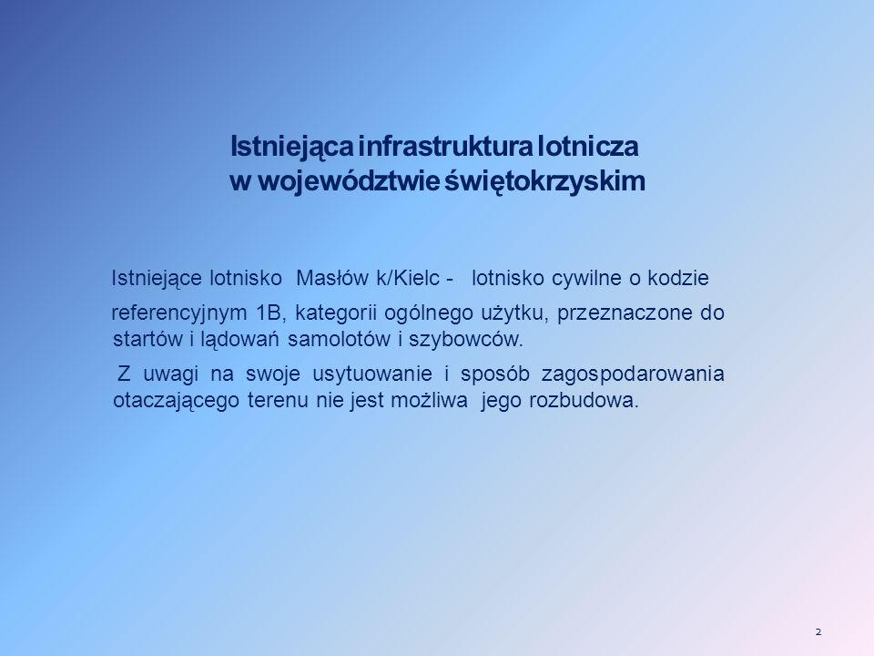 Istniejąca infrastruktura lotnicza w województwie świętokrzyskim