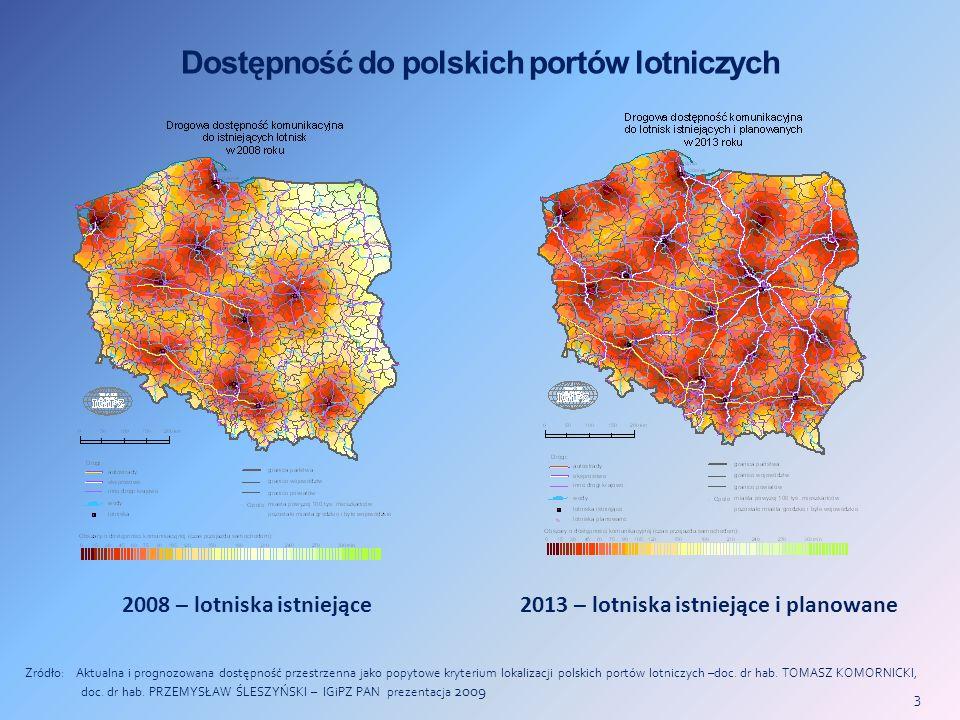 Dostępność do polskich portów lotniczych