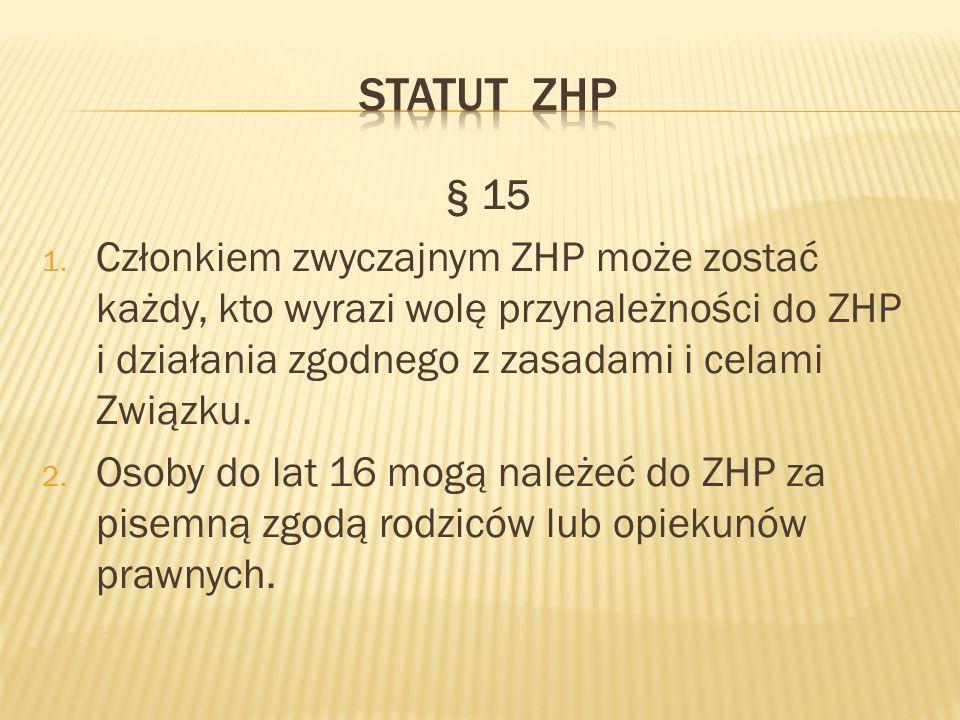 STATUT ZHP § 15.