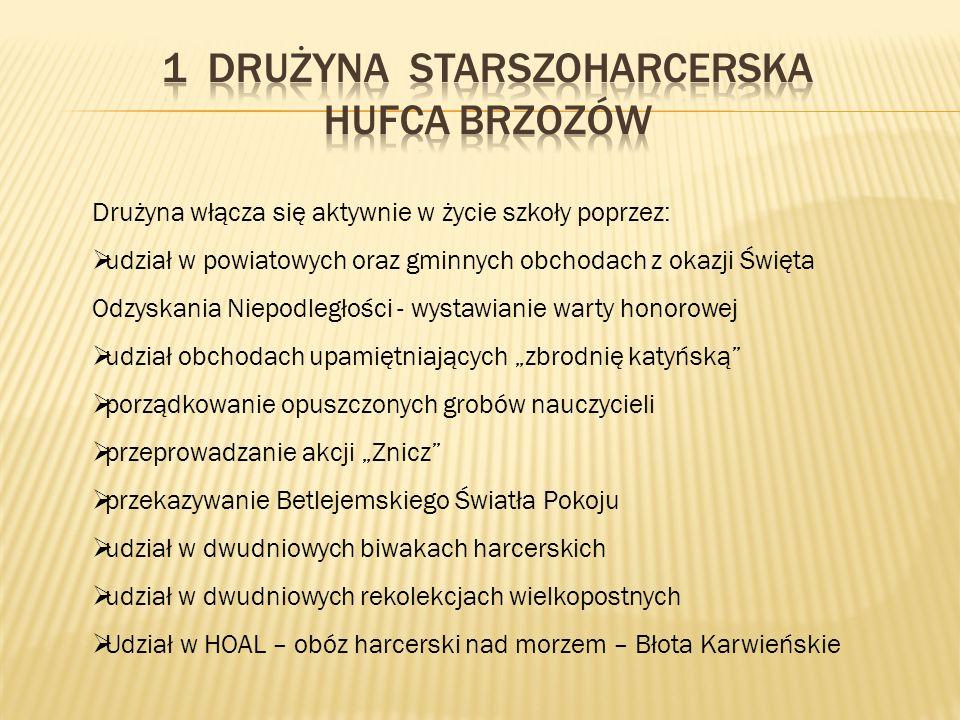 1 DRUŻYNA STARSZOHARCERSKA HUFCA BRZOZÓW