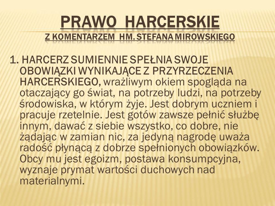 Prawo Harcerskie z komentarzem hm. Stefana Mirowskiego