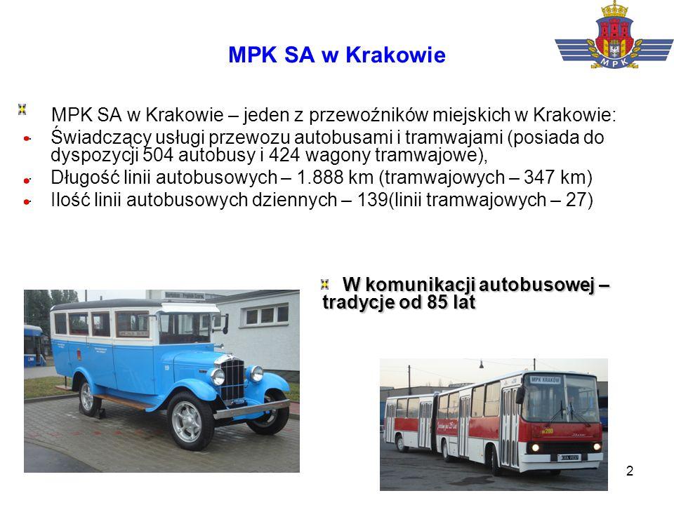 MPK SA w Krakowie MPK SA w Krakowie – jeden z przewoźników miejskich w Krakowie: