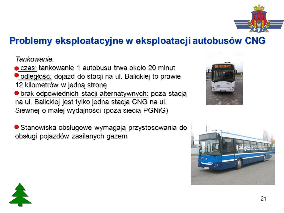 Problemy eksploatacyjne w eksploatacji autobusów CNG