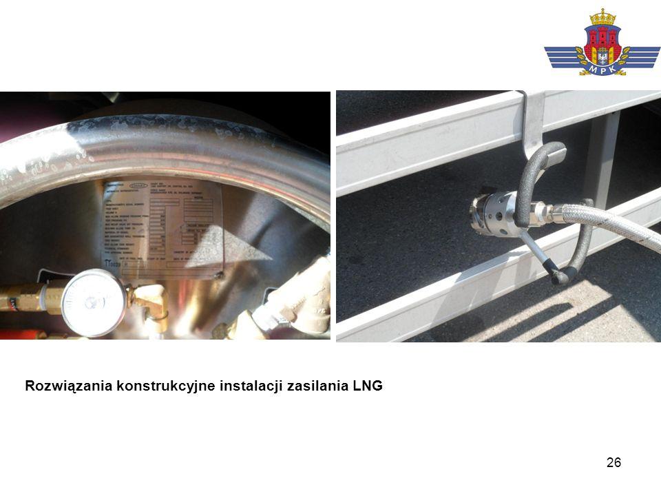 Rozwiązania konstrukcyjne instalacji zasilania LNG