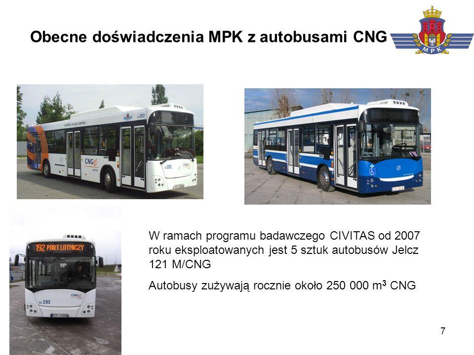 Obecne doświadczenia MPK z autobusami CNG